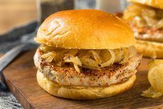 Chicago Pork Chop Sandwich Recipe  - Pork Chop Sandwiches, Pork Sandwich, Sandwich Recipes, Fried Pork Chops, Boneless Pork Chops, Homemade Bbq Sauce Recipe, Homemade Food, Homemade Beauty, Pork Roast Recipes