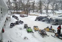 Let's go snowmobile in Canada!  Yes!  Canada Winter at Wasaga Beach Ontario #CDNGetaway