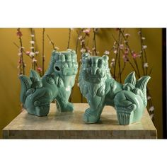 Imax Choo Foo Dogs - Set Of 2.