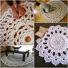 Giant Crochet Doily Rug--This is awesome! I totally want one (or a few)