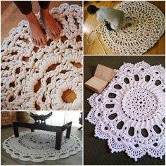 Giant Crochet Doily Rug 2
