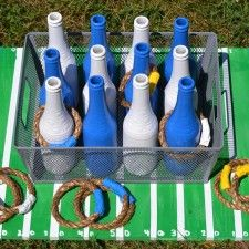 DIY decor - Game day activities and diy ring toss tailgating game. #EsuranceFantasyTailgate
