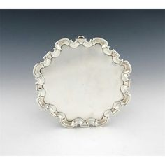A george ii scottish silver salver Glass Furniture, Japanese Painting, Wallis, Tribal Art, Asian Art, Utensils, Rugs On Carpet, Silver Jewelry, English