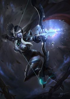 Drow Ranger - another hero I like to play as. Not to mention she's pretty hot