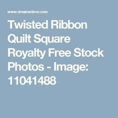 Twisted Ribbon Quilt Square Royalty Free Stock Photos - Image: 11041488
