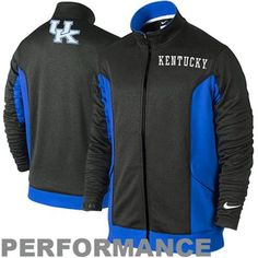 Nike Kentucky Wildcats Empower Shield Full Zip Performance Knit Jacket - Anthracite/Royal Blue