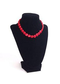 Red necklace  statement necklace  fall by BijouxDesignsStudio, $28.00