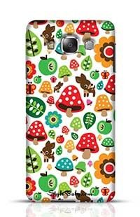 Musroom Autumn Deer And Apple Pattern Samsung Galaxy E7 Phone Case