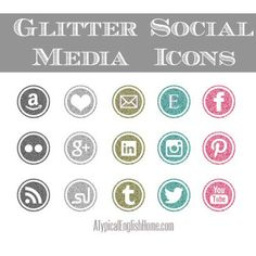 A Typical English Home: Free Glitter Social Media Icons