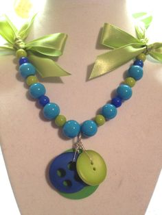 Button Necklace by BornAgainButtons on Etsy, $10.00