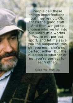 """Robin Williams (RIP, the Psychologist in """"Good Will Hunting"""""""