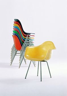Eames Chairs -- mid century modern!