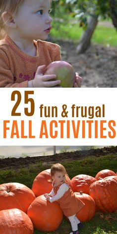 Fall Bucket List for kids. This is a great list of frugal fall activities for toddlers and preschoolers. Most of these activities for kids are free or cheap! Have fun this autumn and make memories. Free printable checklist of things to do with the kids th Outdoor Activities For Toddlers, Halloween Activities For Kids, Fall Crafts For Kids, Fun Activities, Kids Crafts, September Activities, Toddler Halloween, Holiday Activities, Thanksgiving Crafts