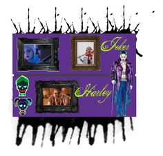 """Joker+Harley"" by bebe-lindsss on Polyvore featuring art"