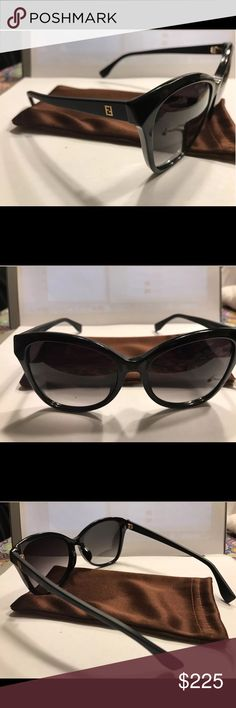 🌺100% Genuine NEW FENDI Sunglasses. FS 0043 64H 100% Authentic Fendi product Type: MATTE BLACK Sunglasses  Model: FF 0043-S Gender: Female Material: Plastic Lens: Grey Gradient Manufacturer: Fendi SIZE 56MM 17MM 140mm Made in Italy Fendi Sunglasses Generic pouch  This item is in excellent condition cosmetically except for few small superficial scratches on frame, because they were a case display, in my belief the vision is excellent with no defects otherwise and it doesn't effect the…