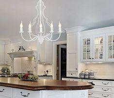 👍🏻Традиционный интерьер кухни в классическом стиле будет прекрасно смотреться с таким шикарным дополнением как люстра-свеча Nowodvorski 6330 MARGARET с пятью белыми плафонами по цене всего 1945 грн. Chandelier, Bulb, Ceiling Lights, Lighting, Kitchen, Home Decor, Environment, Ideas, Minimalist Style