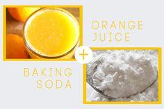 DIY Baking Soda + Orange Juice Face Mask
