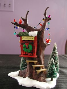 Dept 56 Snow Village  Kid's Tree House by buttertownantiques, $19.99