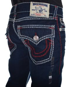 ff42e94b065b True Religion Mens Jeans Size 36 Straight with Flaps Super QT in Split Tail  (36