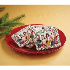 The Personalized Photo Christmas Cookies - Hammacher Schlemmer