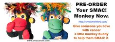 """NoMo is the ringleader of """"SMAC! – Sock Monkeys Against Cancer"""", a gang of monkeys that provides tangible support to those with cancer, reminding them no one Sock Monkeys, Little Monkeys, Sock Toys, Cancer Support, Soft Dolls, Cancer Awareness, Thoughtful Gifts, Fundraising, Cool Stuff"""