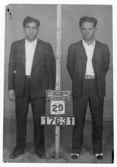 Abe 'Kid Twist' Reles and Martin Goldstein street soldiers of Murder Inc .1933. Kid Twist would eventually be killed for informing