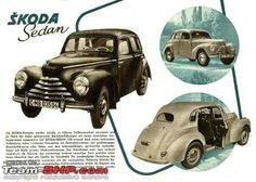 Skoda Mini Trucks, Car Advertising, Old Signs, S Car, Car Drawings, Old Cars, Vintage Ads, Tractor, Cars And Motorcycles
