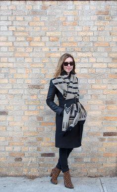 3 Ways To Update Your Winter Coat- Wrap a scarf around it | DeSmitten