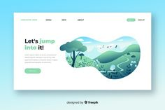 Flat nature landing page template Free Vector Free Banner Templates, Page Template, Layout Template, Best Banner, Web Layout, Layout Design, Banner Printing, Web Design Inspiration, Graphic Design Illustration