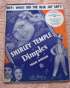 1936 Shirley Temple Hey! What Did the Blue Jay Say Sheet Music