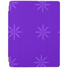 Flowers(Purple version) iPad Smart Cover Custom Brandable Electronics Gifts for your buniness #electronics #logo #brand