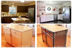 lovely kitchen re-dos. Thanks Home Stories A2Z