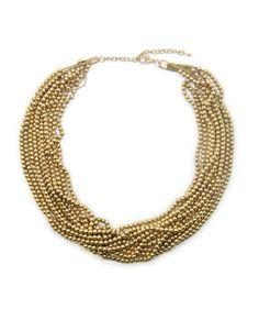 Golden Glitz Necklace