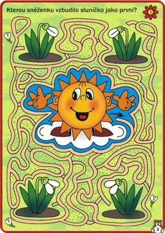 Spring Activities, Activities For Kids, Teaching Kids, Kids Learning, Maze Worksheet, File Folder Activities, Maze Game, Picture Puzzles, Pre Writing