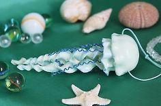 Pendant necklace jewelry / jellyfish / handmade / polymer clay