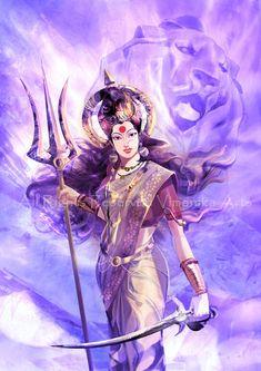 Navratri Puja will help you overcome all your negativities. Flourish with wealth on this Navratri by offering Homam to Lakshmi, Saraswathi & Durga. Arte Shiva, Shiva Art, Hindu Art, Shiva Parvati Images, Durga Images, Maa Kali Images, Lakshmi Images, Saraswati Goddess, Goddess Art