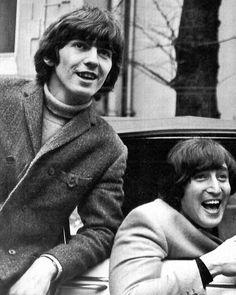 1965  George Harrison and John Lennon