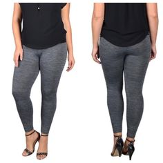 Plus size fleece lined leggings Very comfortable and cozy fleeced lined leggings . Tag says 2x/3x . Pants Leggings