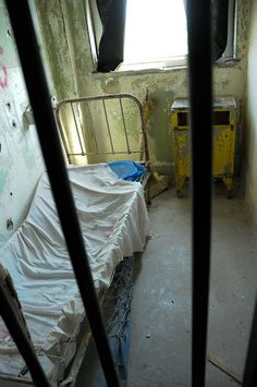 Inside view of a Patient's Room at the haunted Waverly Hills Sanitorium in Kentucky