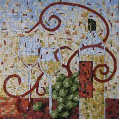 Something my friends and I love.... Having a few wines while playing with mosaics