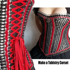 Tabistry Gusseted Corset PDF Tutorial - Pattern and Instructions for aluminum soda pop can tab corset or bodice
