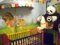 Carousel Nursery - Traditional - Kids - toronto - by Murals By Marg Nursery Themes, Nursery Murals, Toddler Playroom, Carousel Horses, Kids Bedroom, Cute Babies, Toronto, Original Art, Rocking Horses