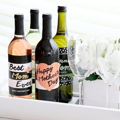Best Mom Ever - Wine Bottle Label Gifts for Mom - Mother's Day Gift Ideas | BigDotOfHappiness.com