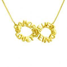 gargantilha em ouro infinito