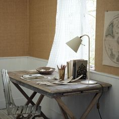 Distressed wooden home office | Coastal decorating ideas | Homes & Gardens | Housetohome