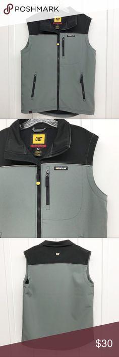 47de39e23da Caterpillar CAT Workwear Men's Soft Shell Vest Caterpillar Workwear Men's  size medium, soft shell made