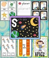 Free space-themed printables
