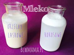 Domowe mleko kokosowe Glass Of Milk, Drinks, Food, Drinking, Beverages, Essen, Drink, Meals, Yemek