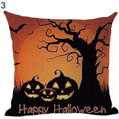 c8354bcef3c Connoworld Halloween Pillow Case Linen Sofa Cartoon Cushion Cover Festival  Decoration    Learn more by visiting the image link.