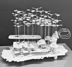 Stadium of the Future — Alephograph: Architecture, drawing and video games. Bartlett School Of Architecture, Architecture Student, Architecture Plan, Berkeley Architecture, Concept Models Architecture, Architecture Drawings, Landscape Model, Landscape Concept, City Model